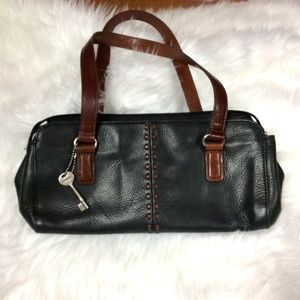 Fossil Black and Brown Handbag AMAZING condition